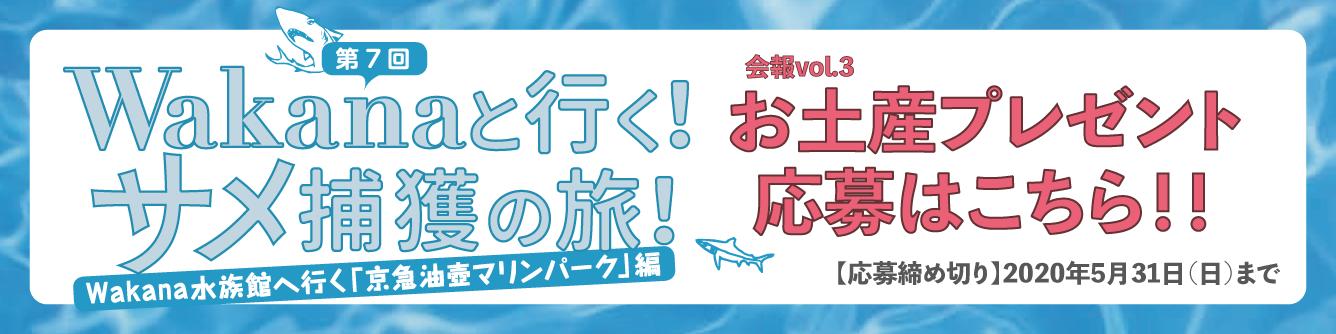 【会報#03】Wakanaと行くサメ捕獲の旅 お土産プレゼント
